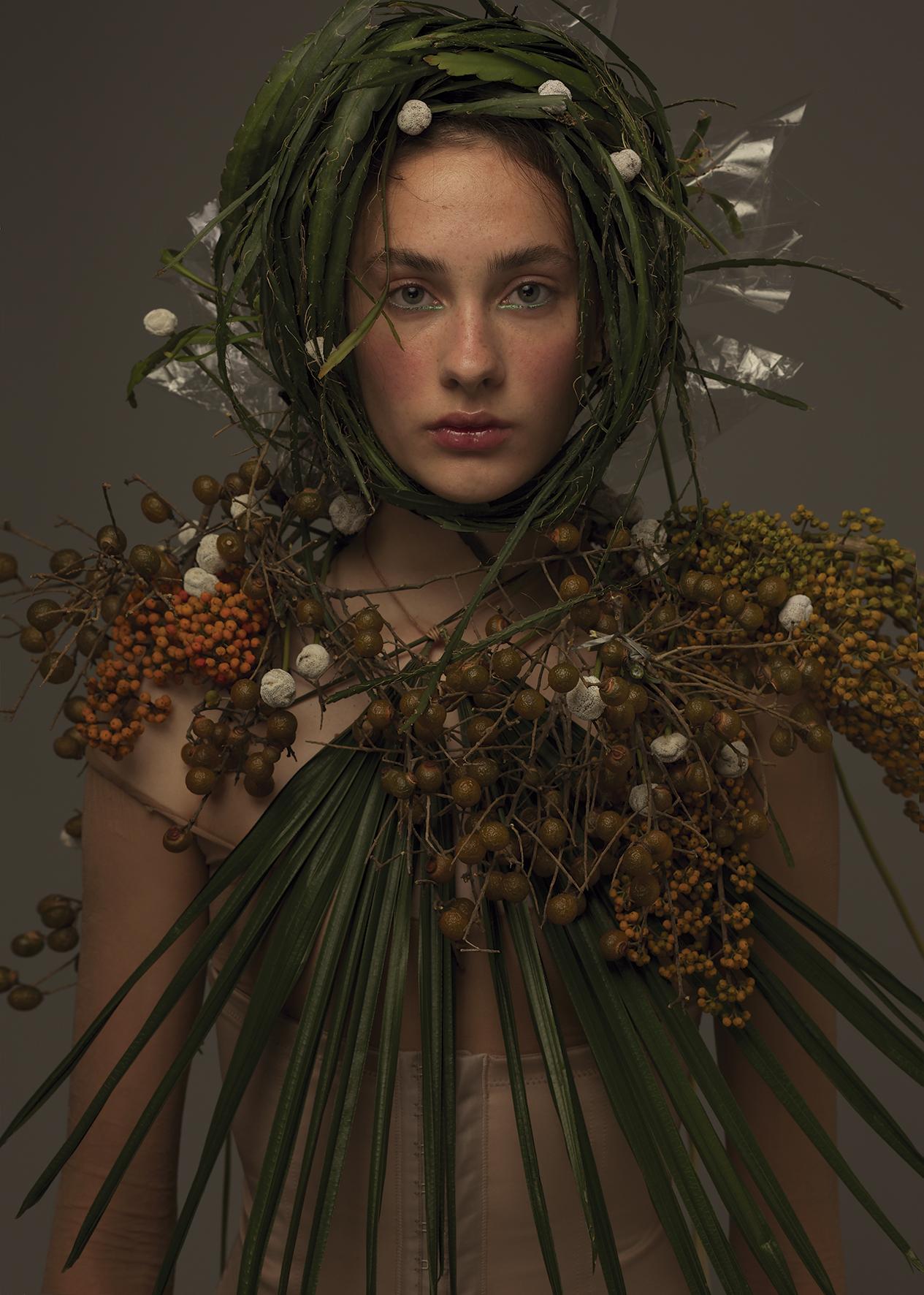 Composições com flores feitas para editorial do FFW (Foto: Divulgação)