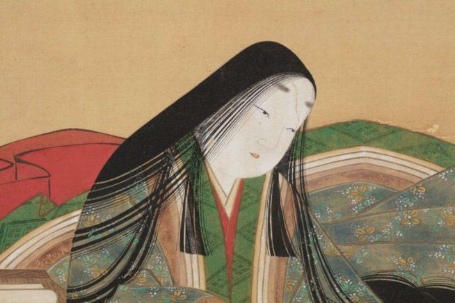 Mulher japonesa da era Heian, com corte Hime | Foto: Buro My