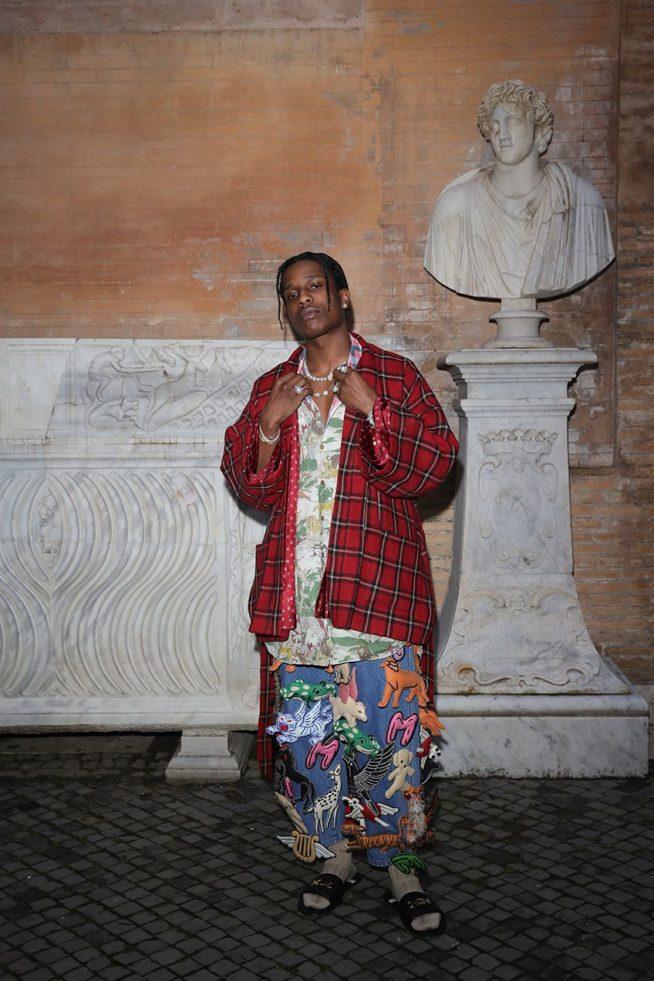 ASAP Rocky de Look completo Gucci | Foto: Vittorino Celotto | Reprodução EsquireMag