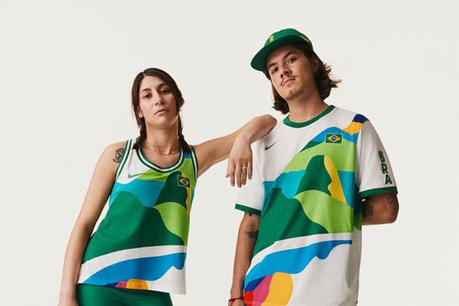Uniforme dos Skatistas Brasileiros   Créditos: Nike Divulgação