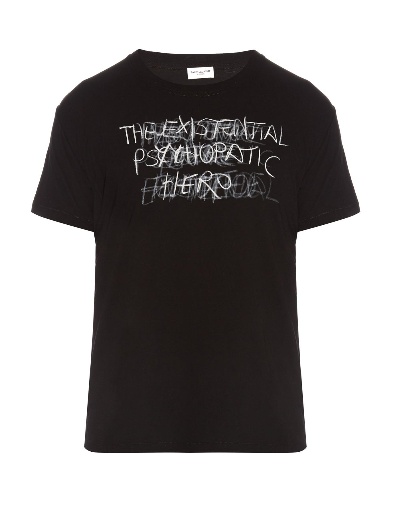 camiseta com mensagem ysl