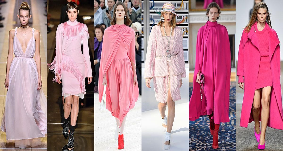 Os tons de rosa foram destaque nos desfiles da Dior, Givenchy, Céline, Chanel, Valentino e Topshop Unique ©Agência Fotosite
