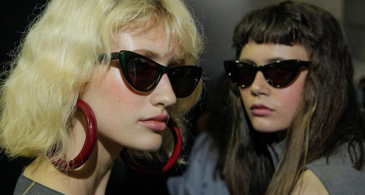 efce0803c Óculos modelo gatinho, que apareceram na coleção da A.Brand, no SPFWn42 ©